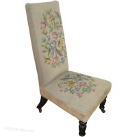 Victorian Nursing Chair With Needlepoint - Antiques Atlas