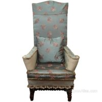 William And Mary Style High Back Chair - Antiques Atlas