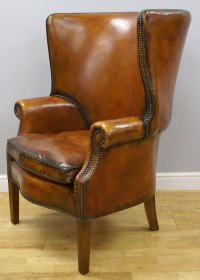 A Georgian Style Barrel Back Wing Chair - Antiques Atlas