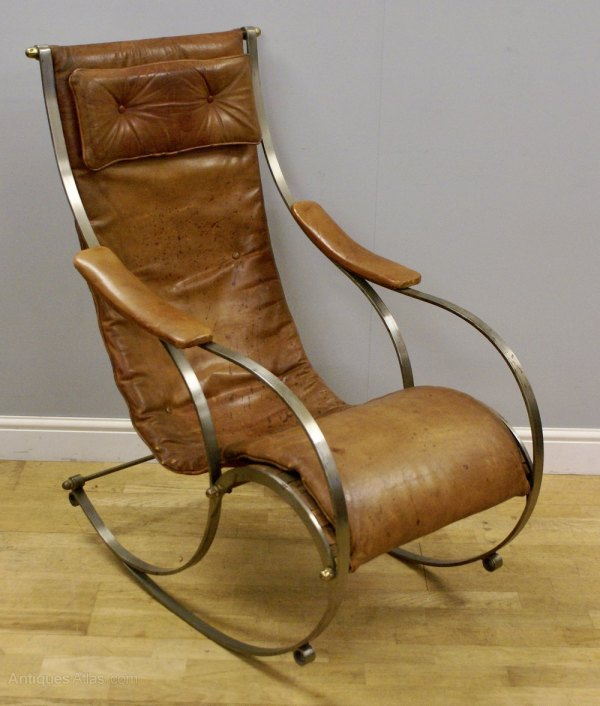 Antique Rocking Chair Leather Steel