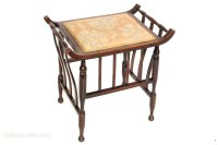 Antique Beech Piano Stool Or Dressing Table Chair ...