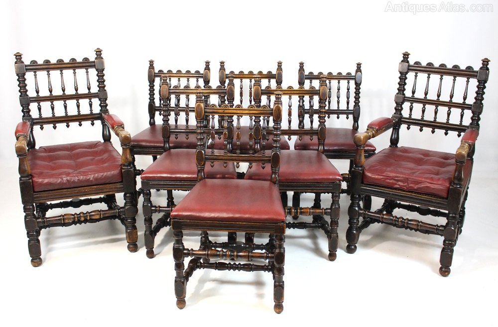 bergere dining chairs breast feeding chair set of 8 oak 2 carvers 6 antiques atlas