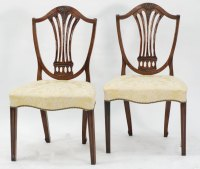 Pair Of Hepplewhite Mahogany Shield Back Chairs - Antiques ...