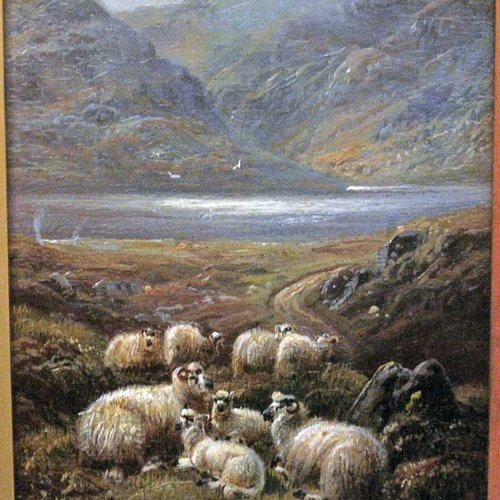 Antiques Atlas Painting Of Sheep By Robert Watson