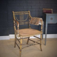 Bamboo Chairs Best Racing Chair Regency Faux With Original Paint - Antiques Atlas