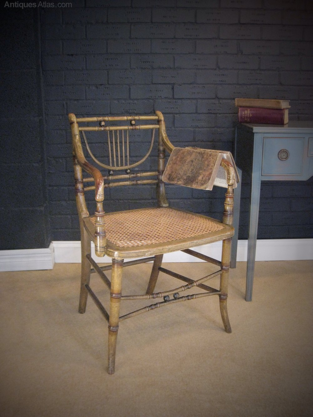 what is a chair rail swinging egg regency faux bamboo with original paint - antiques atlas