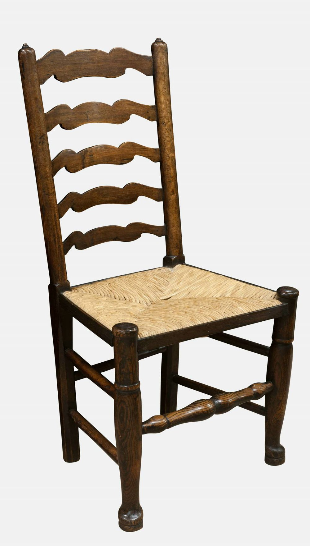 Set Of 8 Ladderback Chairs  Antiques Atlas