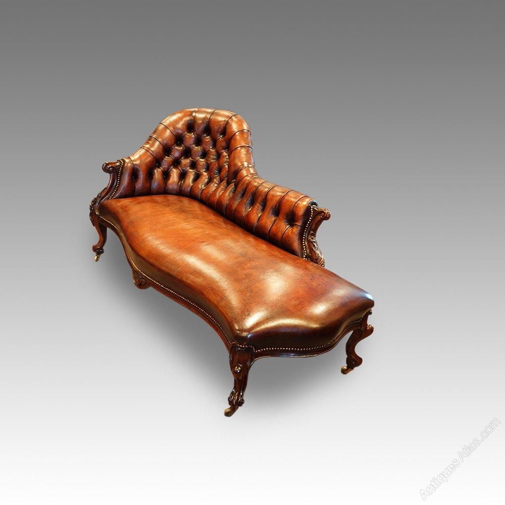 antique high chair portable makeup artist victorian rosewood chaise lounge - antiques atlas