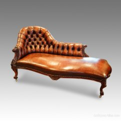 Lounge Chair Leather Black Covers For Weddings Victorian Rosewood Chaise - Antiques Atlas