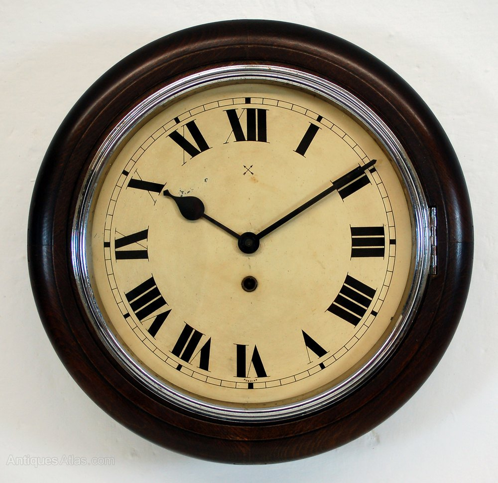 kitchen clocks sink pipes antiques atlas antique clock with chrome bezel