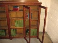 Mahogany Three Glass Door Bookcase - Antiques Atlas