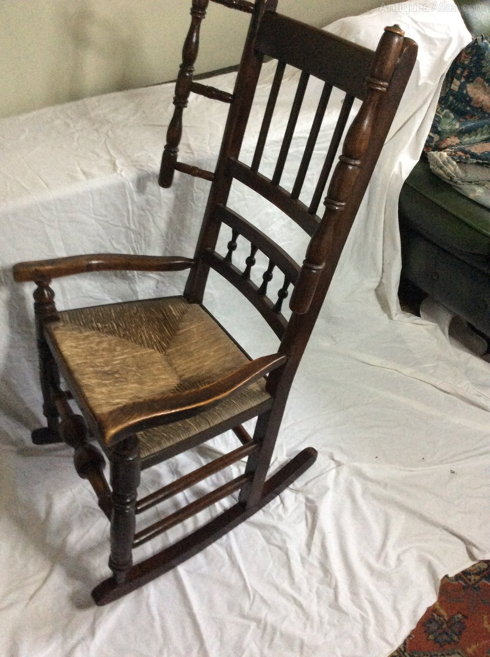 mid century chairs uk rattan swivel chair 19th spindle back rocking - antiques atlas