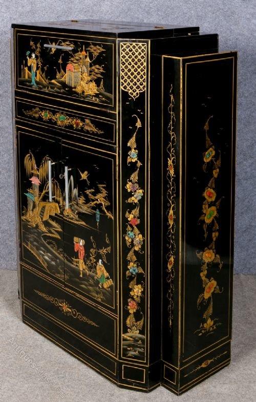 Art Deco Chinoiserie Cocktail Cabinet  Antiques Atlas