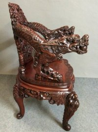 Dragon Carved Armchair