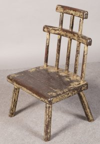 Old Painted Comb Back Chair - Antiques Atlas