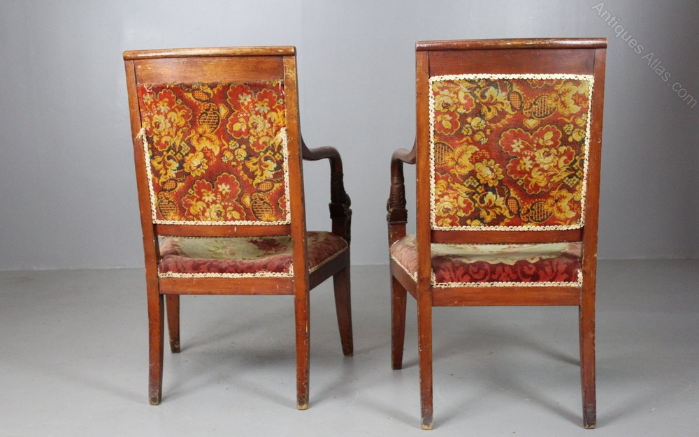 floral arm chair covers canada wholesale pair french chairs 19th century - antiques atlas