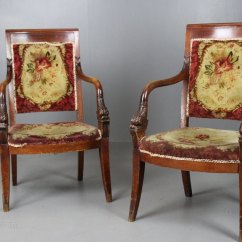 Captains Chair Dining Room Replacement Covers Pair French Chairs 19th Century - Antiques Atlas