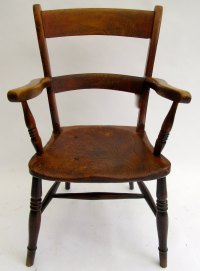 Victorian Beech And Elm Farmhouse Windsor Chair - Antiques ...