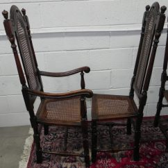 Dining Chairs With Caning Hooker Desk Chair 10 Antique 19thc Oak Cane - Antiques Atlas