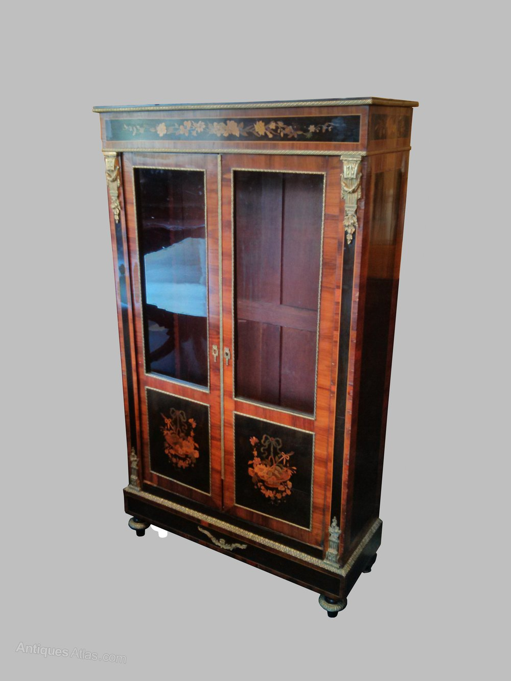French Marquetry Cabinet  Antiques Atlas