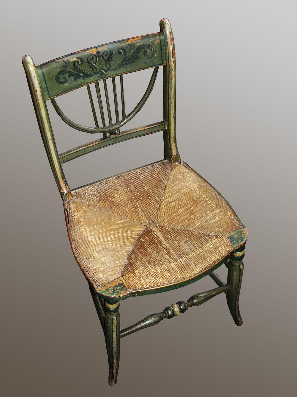 Regency Painted Chair  Antiques Atlas