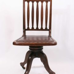 Revolving Chair In English Antique Wooden Rocking Chairs Arts & Crafts Desk - Antiques Atlas