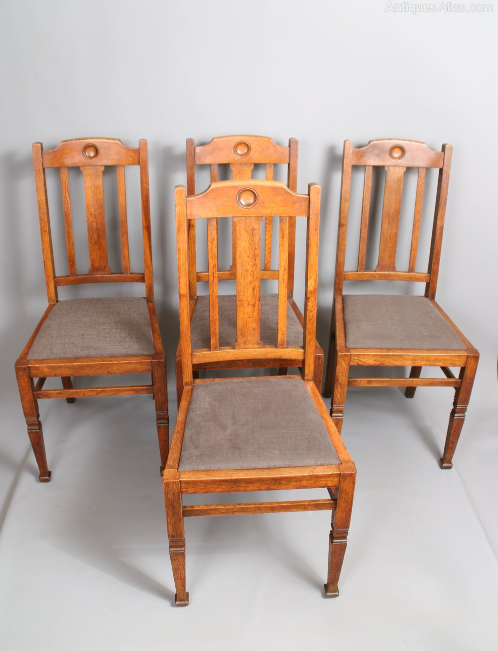 Set Of 6 Shapland & Petter Oak Dining Chairs  Antiques Atlas