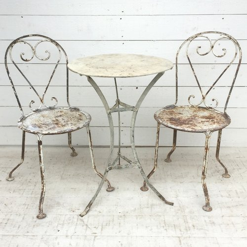 antique french bistro table and chairs office chair wheels for laminate floors antiques atlas garden set