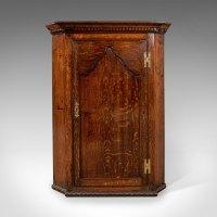 Antique Corner Cabinet, English Oak. - Antiques Atlas