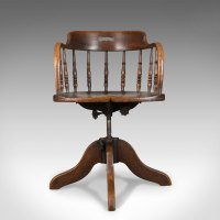 Antique Desk Chair, Victorian Captain's Armchair ...