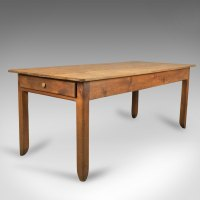 Antique French Farmhouse Table, C19th Pine - Antiques Atlas