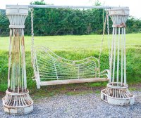Antiques Atlas - Antique Garden Swing Bench Vintage French ...