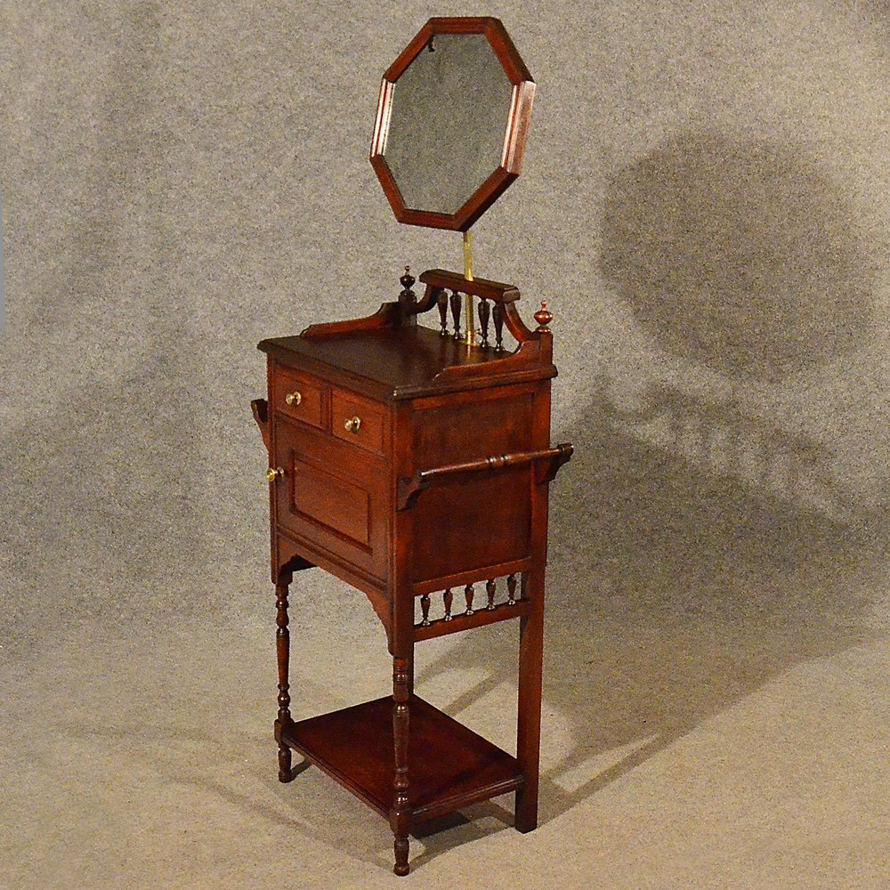 Antique Narrow Wash Stand Tall Cabinet Vanity  Antiques Atlas