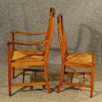 Antique Oak Chairs Set 6 With Carvers Kitchen - Antiques Atlas