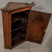 Antique Oak Corner Cabinet Wall Cupboard Quality ...