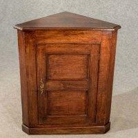 Antique Oak Corner Cupboard Display Cabinet - Antiques Atlas