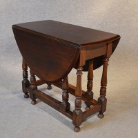 Antique Oak Oval Table Gateleg Drop Flap Victorian ...