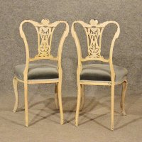 Antique Pair French Chairs Painted Vintage Quality ...