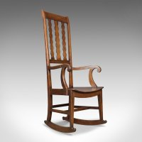 Antique Rocking Chair, English Victorian, Mahogany ...