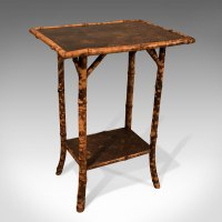 Antique Side Lamp Table Two Tier Bamboo - Antiques Atlas