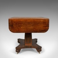 Antique Sofa Table, Rosewood, English, Regency, - Antiques ...