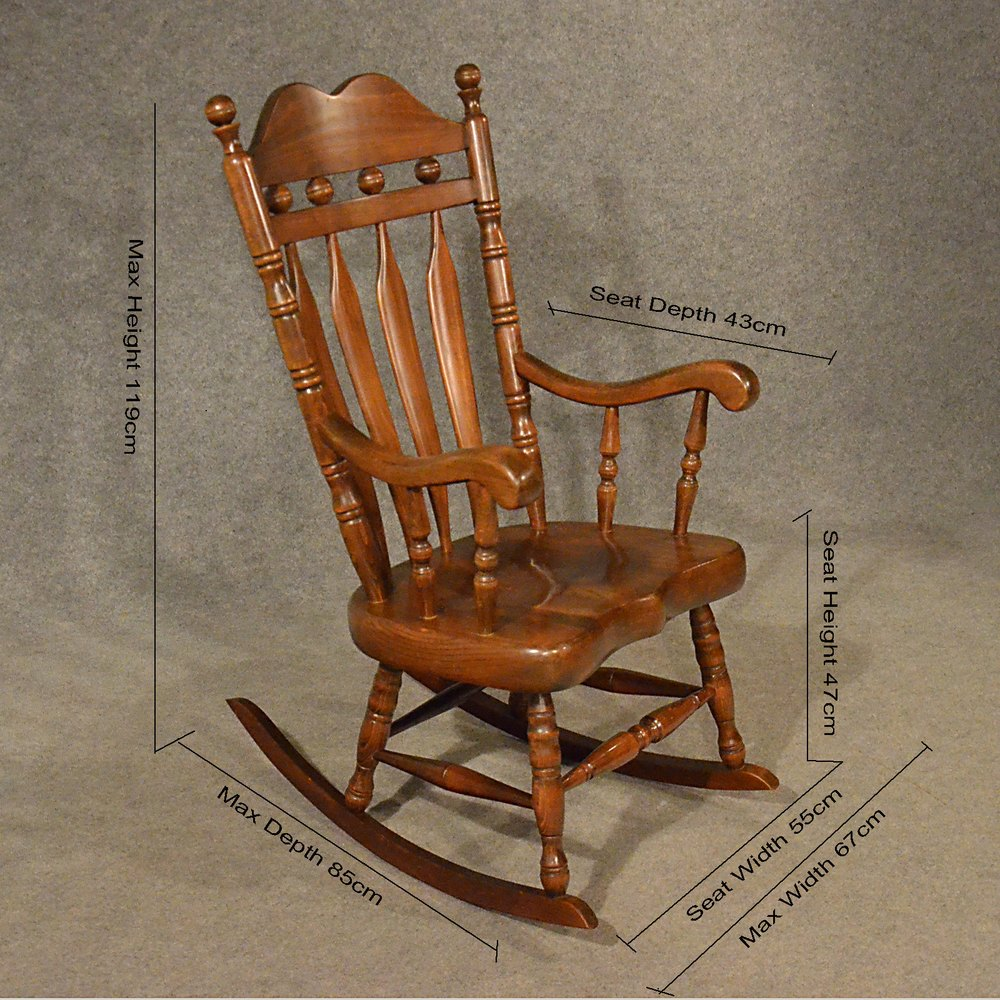 rocking chair height hanging jysk antiques atlas antique windsor large post 1940 chairs