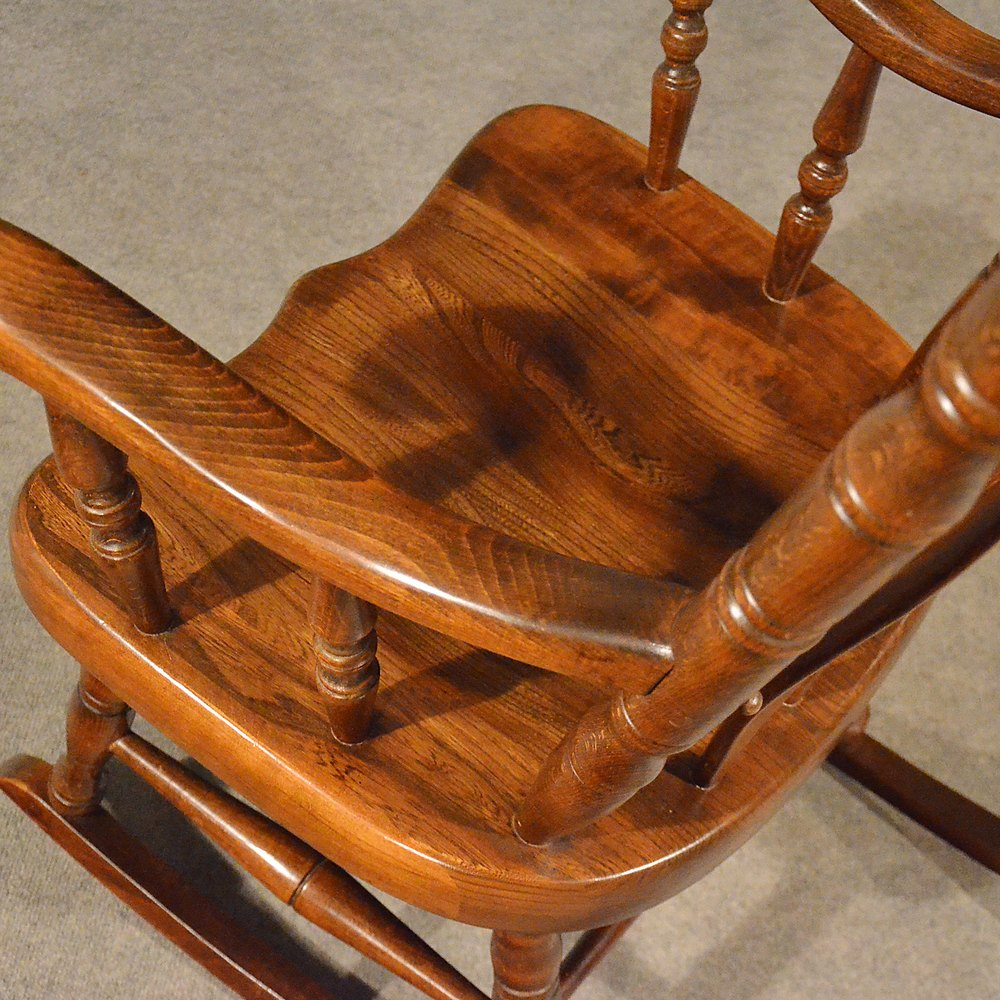 oak chair rail cover hire london antiques atlas - antique windsor rocking large