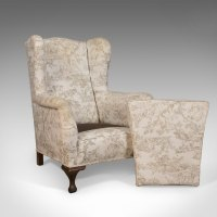 Antique Wing Back ArmChair, English, Victorian - Antiques ...