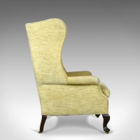 Antique Wing Back Armchair, Victorian Easy Chair ...