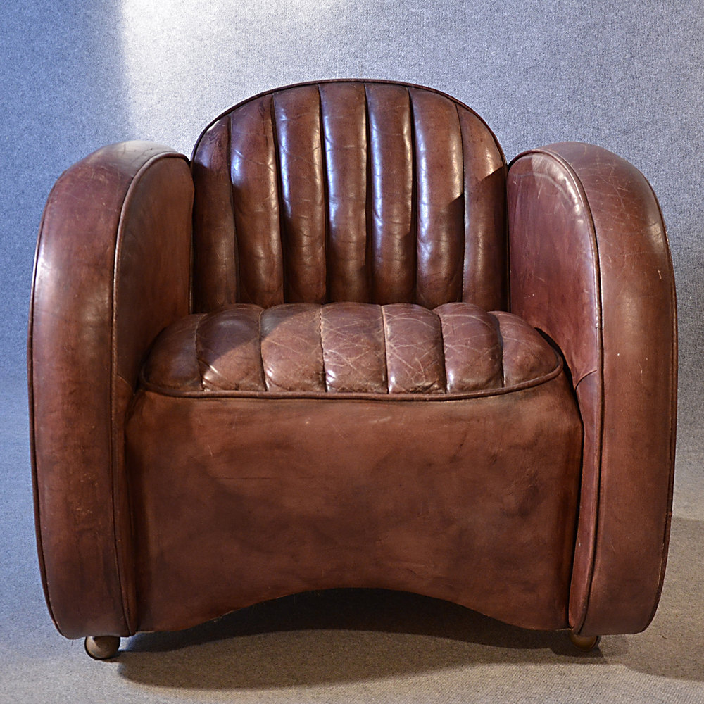 art deco style club chairs hickory chair newbury stool antiques atlas - leather armchair vintage easy