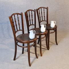 Vintage Bentwood Chairs Set Of Dining 3 Kitchen Antiques Atlas
