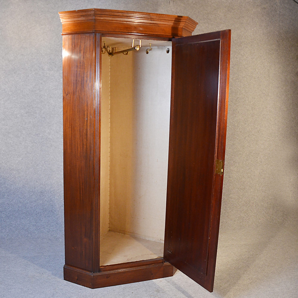 Corner Wardrobe Lobby Hall Coat Cupboard Cloak  Antiques