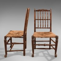 Harlequin Set 7 Antique Spindle Back Dining Chairs ...
