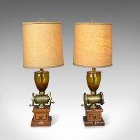 Antiques Atlas - Pair Of Large Vintage Table Lamps